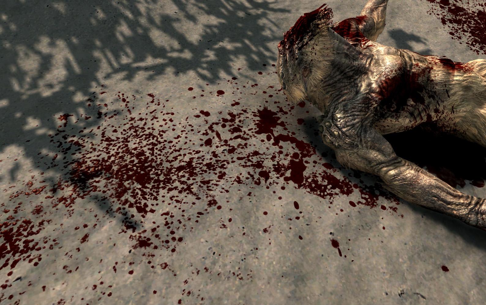 Скачать мод больше крови для скайрим